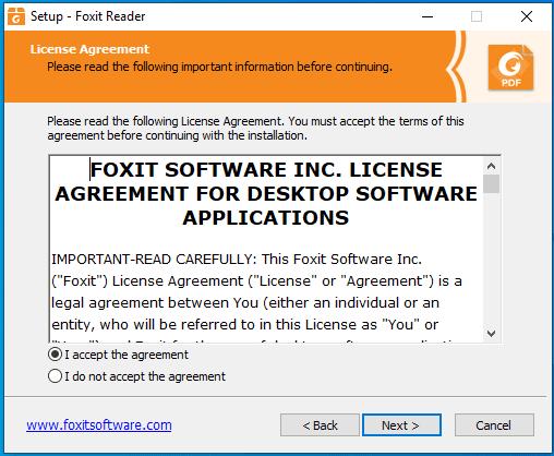 bước 2 hướng dẫn cài đặt Foxit Reader Full Crack