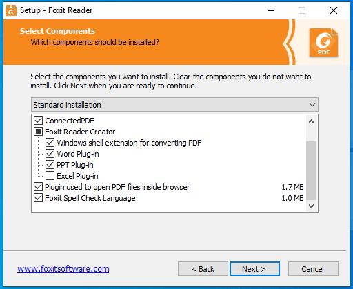 bước 4 hướng dẫn cài đặt Foxit Reader Full Crack