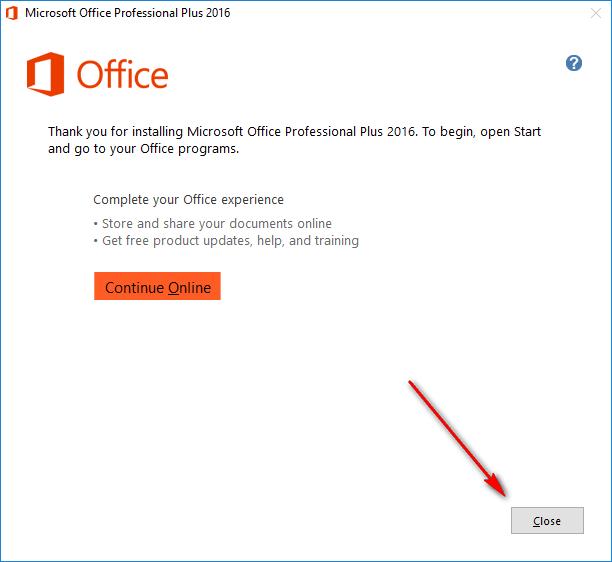 Bước 6: Hướng dẫn cài đặt Office 2016